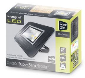 100W LED Floodlight Slim Edition | IP67 Waterproof | 1000 Watt Equivalent | Cool White|INTEGRAL